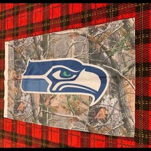 Brand new Seattle Seahawks Camo banner flag